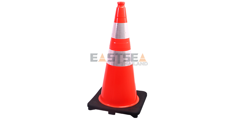 28'' PVC Traffic Cone[Recessed Handle Topper]-1
