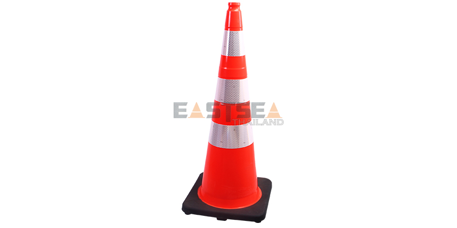36'' PVC Traffic Cone [Recessed Handle Topper2
